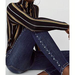 Z1975 Denim Jeans with Studded Side Stripes